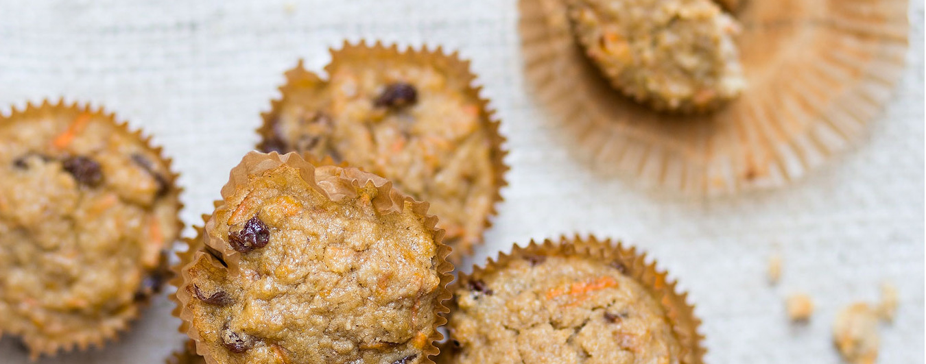 Carrot cake muffin gezonde variant