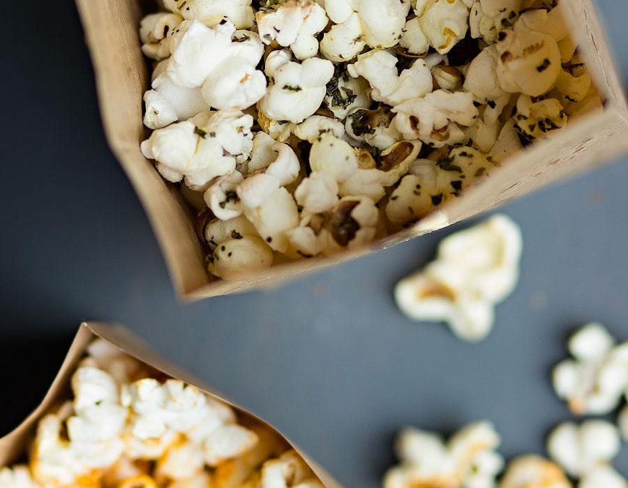 2x Popcorn: Paprika en Italiaanse kruiden