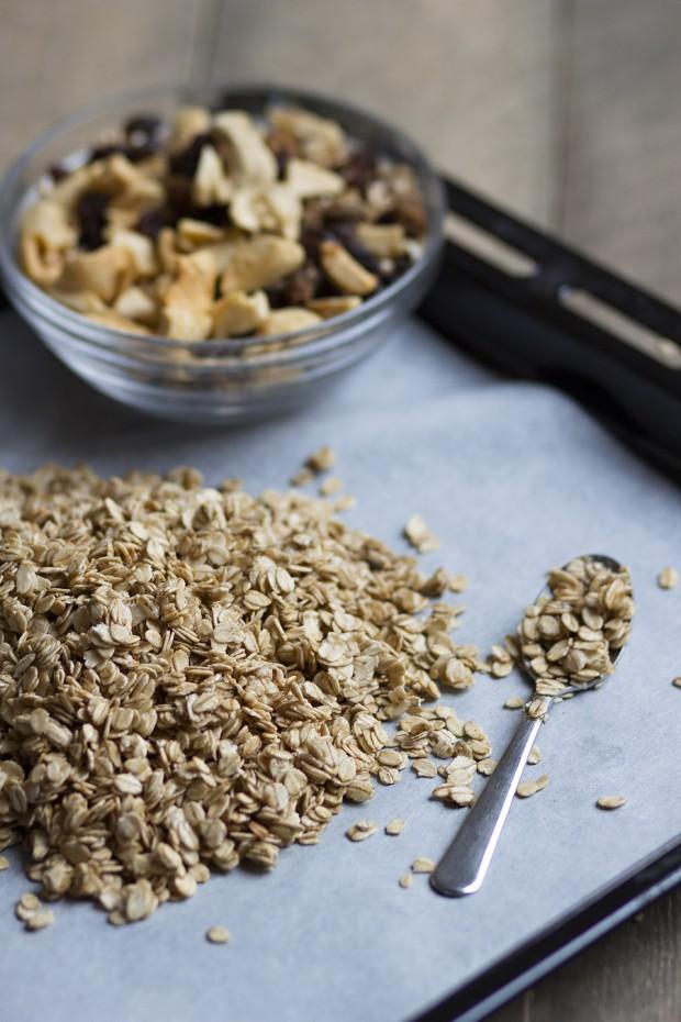 Appel rozijn granola met kaneel
