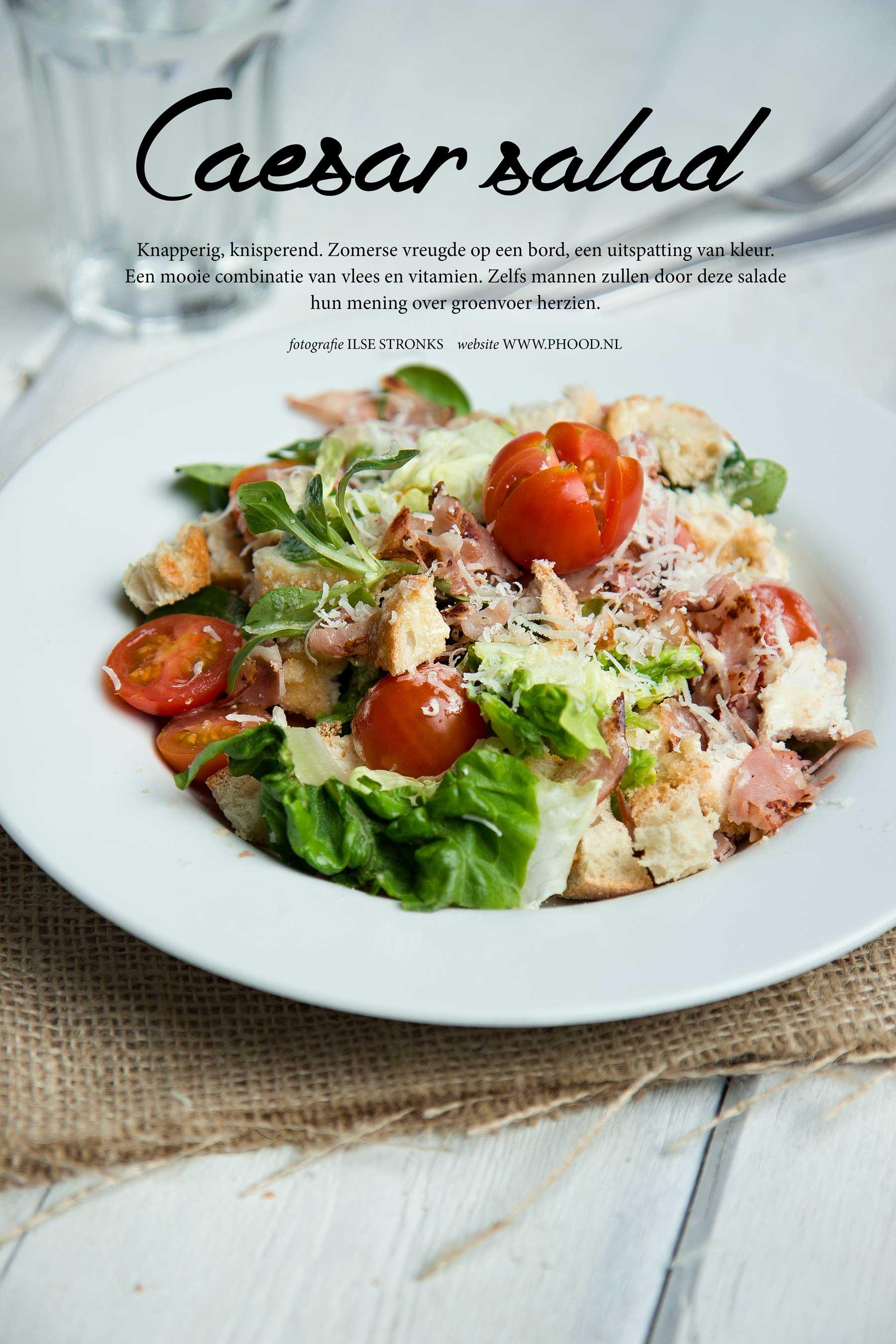 caesar salad met kip en bacon