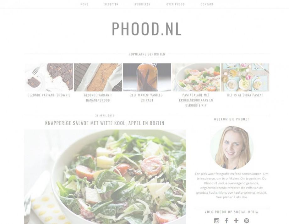 Phood's nieuwe layout + kleine update!