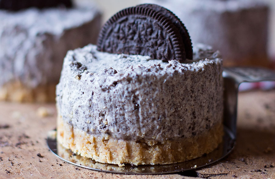 Oreo-cheesecake mini's